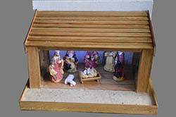 nativity Stable for 10cm figures